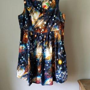 Modcloth dress galaxy dress outer space dress